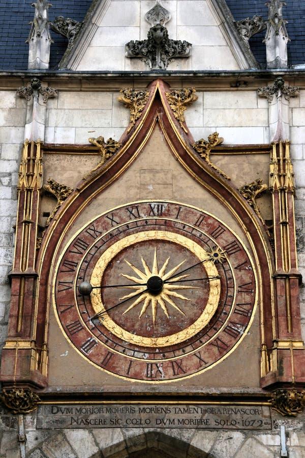 De klok van Auxerre stock foto