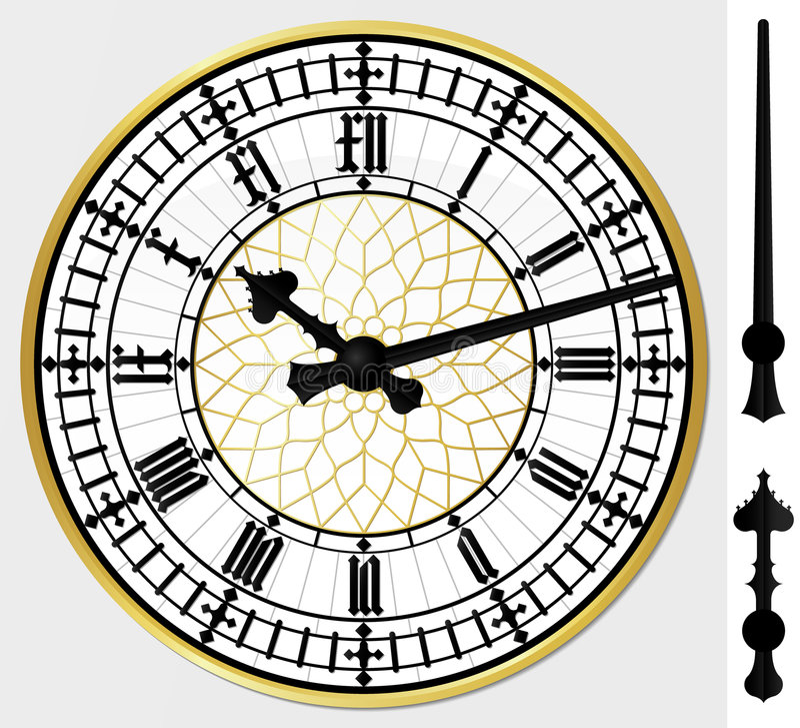 De klok van de Big Ben stock illustratie