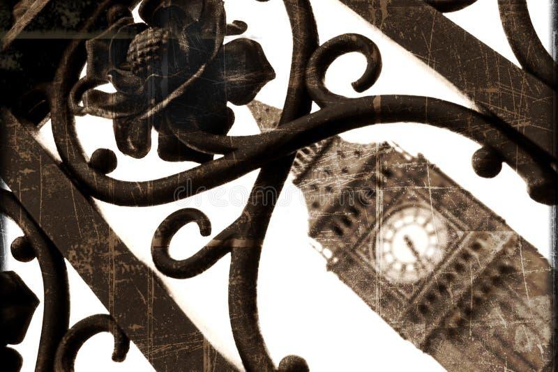 De Klok van de Big Ben in Londen stock afbeelding