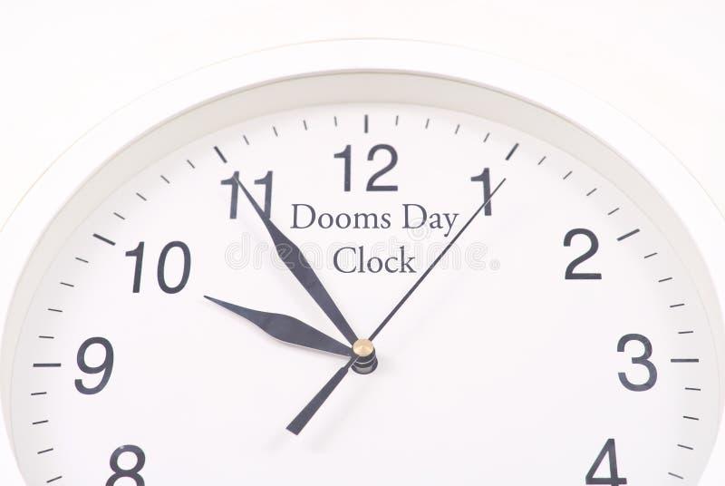 De klok van de Dag van het Noodlot stock foto's
