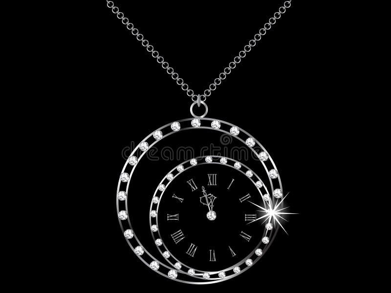 De klok van de diamant stock illustratie