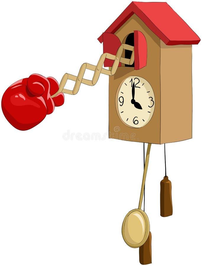 De klok van de koekoek stock illustratie