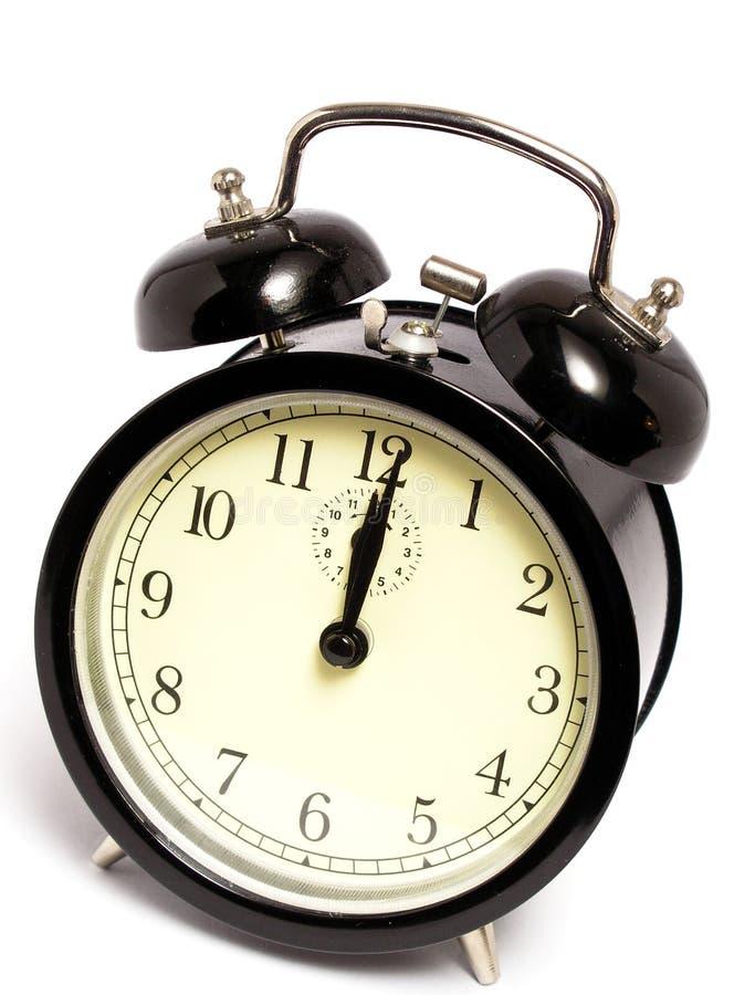 De klok van de middernacht stock foto