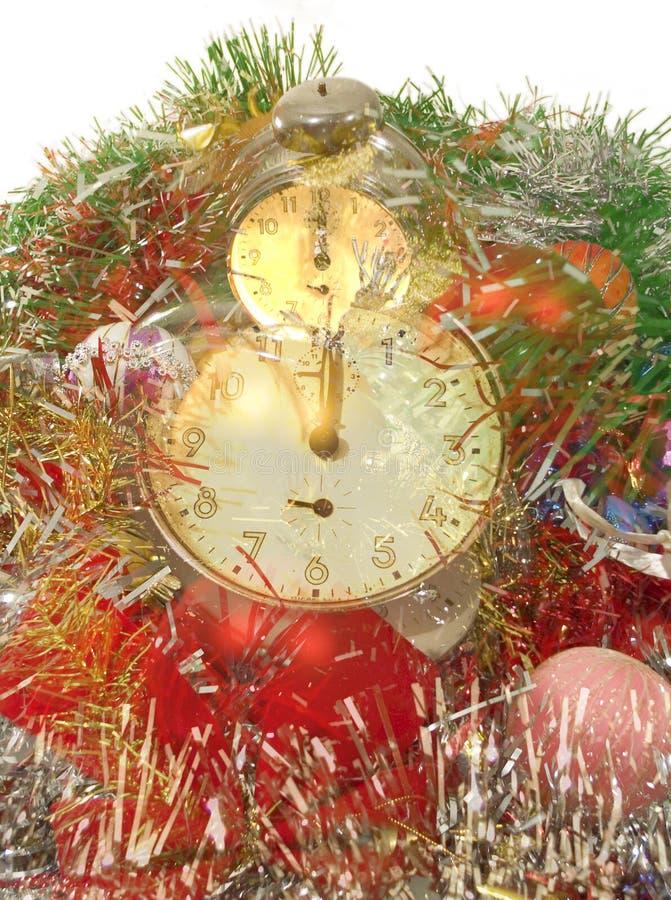 De klok van de middernacht stock afbeeldingen
