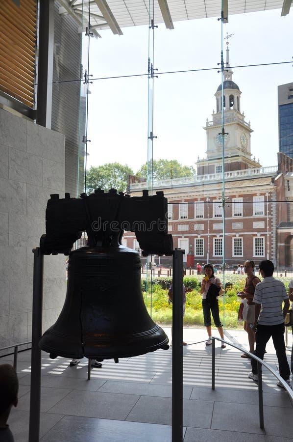 De Klok van de vrijheid in Philadelphia stock foto's