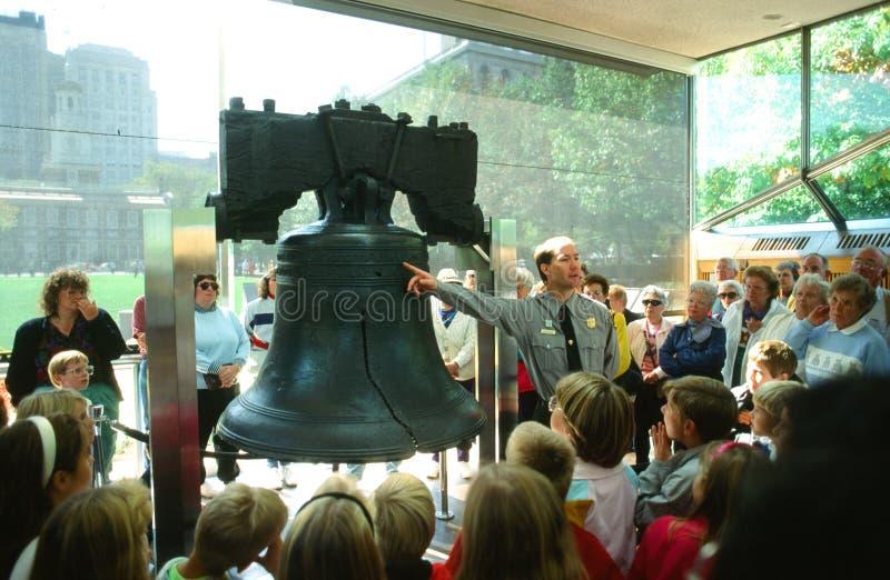 De Klok van de vrijheid, Philadelphia, Pennsylvania stock afbeeldingen