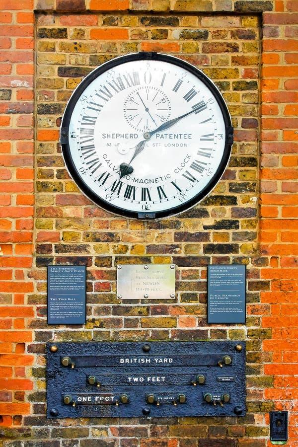 De klok van Greenwich royalty-vrije stock afbeeldingen