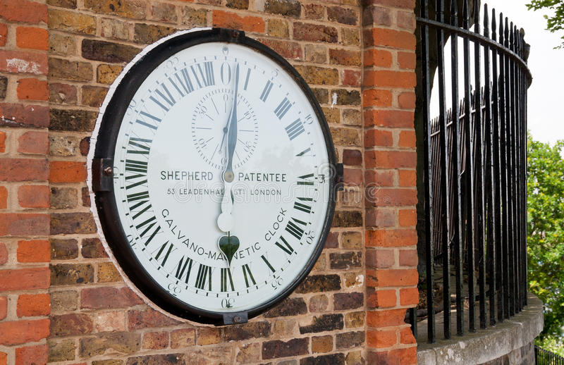 De klok van Greenwich stock foto's