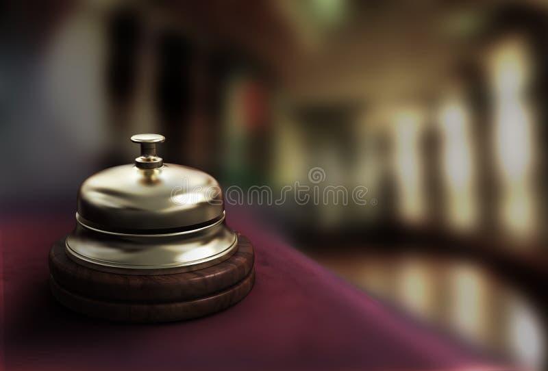 De klok van het hotel royalty-vrije illustratie
