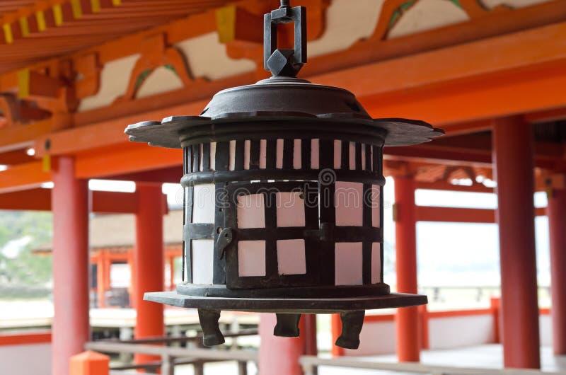 De klok van het Itsukushimaheiligdom stock foto