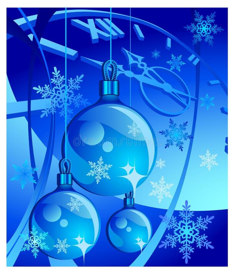 De klok van het nieuwe jaar stock illustratie