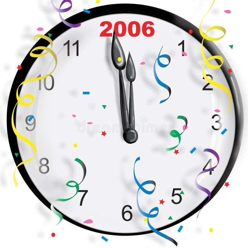 De Klok van het nieuwjaar vector illustratie
