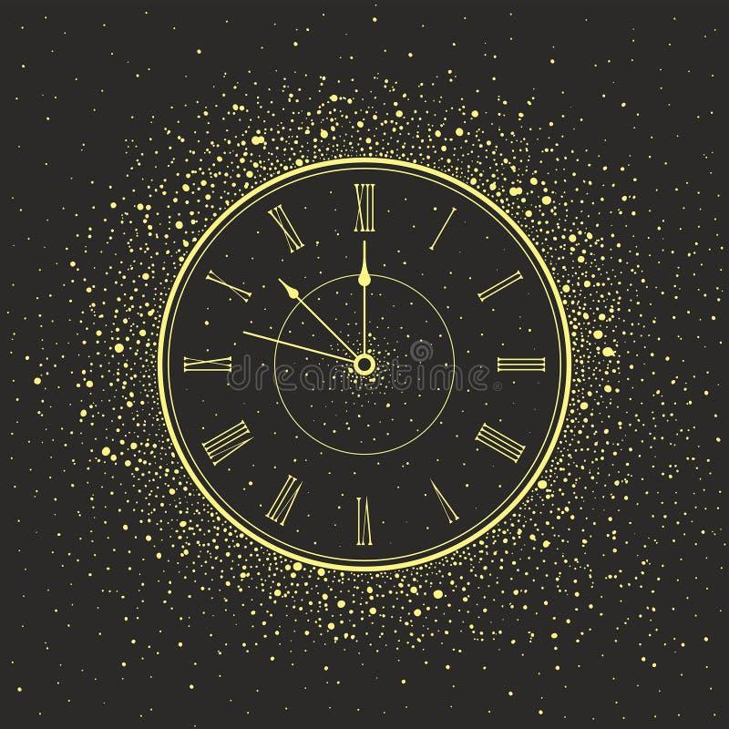 De Klok van het nieuwjaar stock illustratie