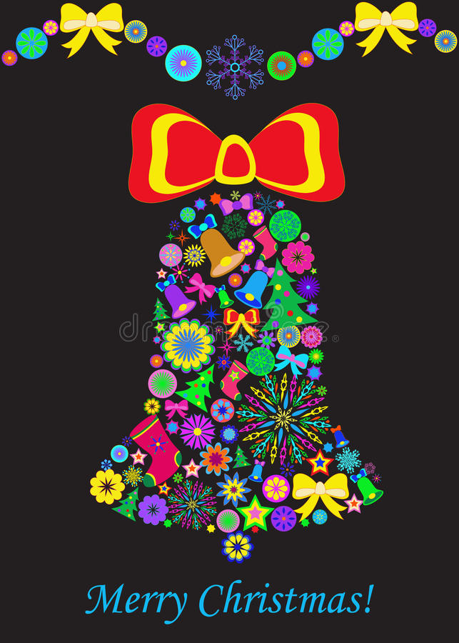 De klok van Kerstmis vector illustratie