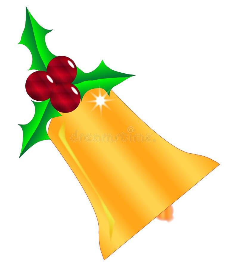 De Klok van Kerstmisholly leaf with berries and vector illustratie