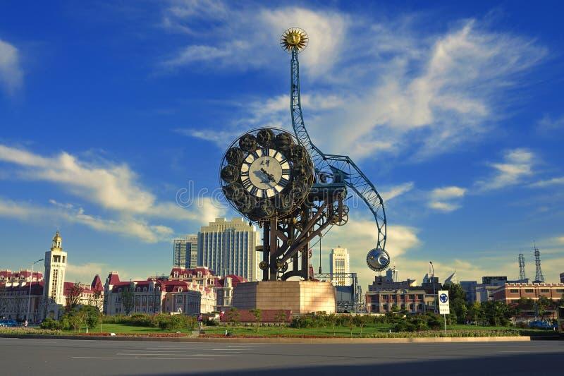 De Klok van LandscapeââMillennium van de Stad van Tianjin stock foto's