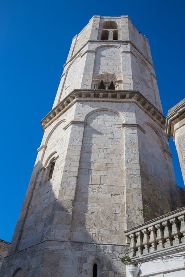 De klok van Monte Sant ` Angelo stock afbeeldingen