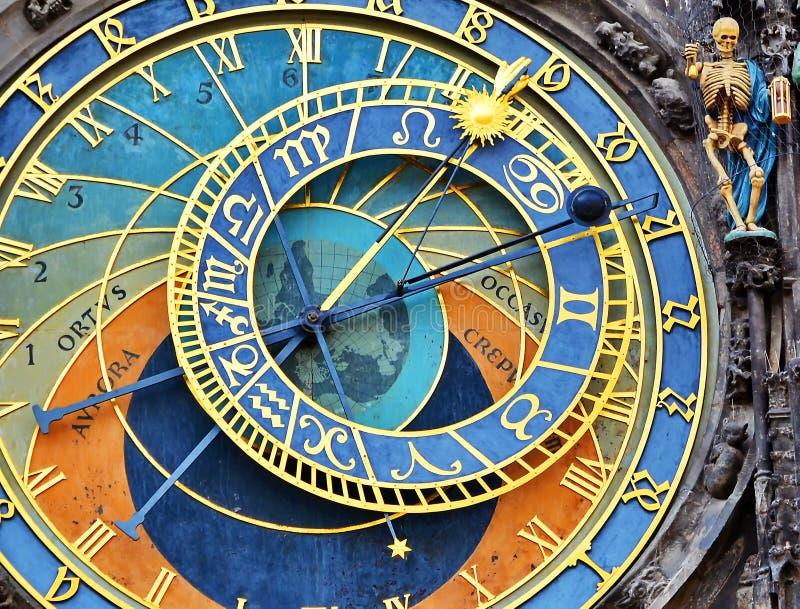 De klok van Praag stock afbeelding