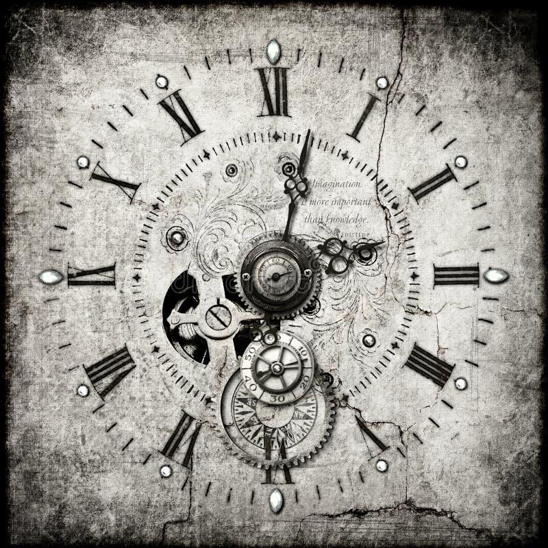 De klok van Steampunk stock afbeeldingen