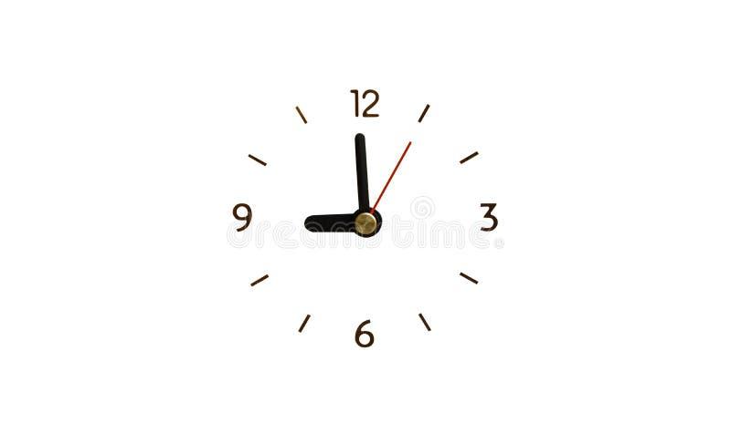 De klok zonder Geïsoleerde aantallen geeft terug royalty-vrije stock afbeeldingen