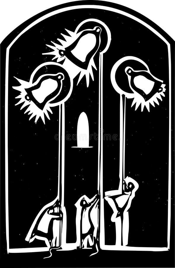 De Klokken van de kerk royalty-vrije illustratie