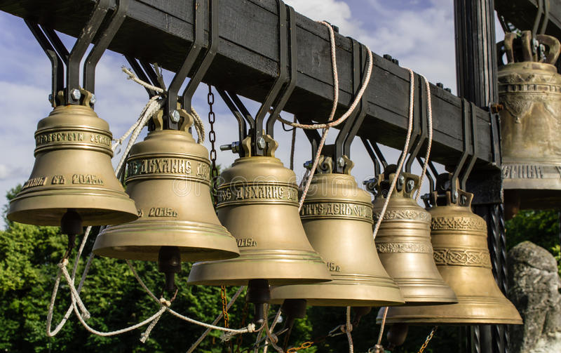 De klokken van de kerk Een foto royalty-vrije stock fotografie