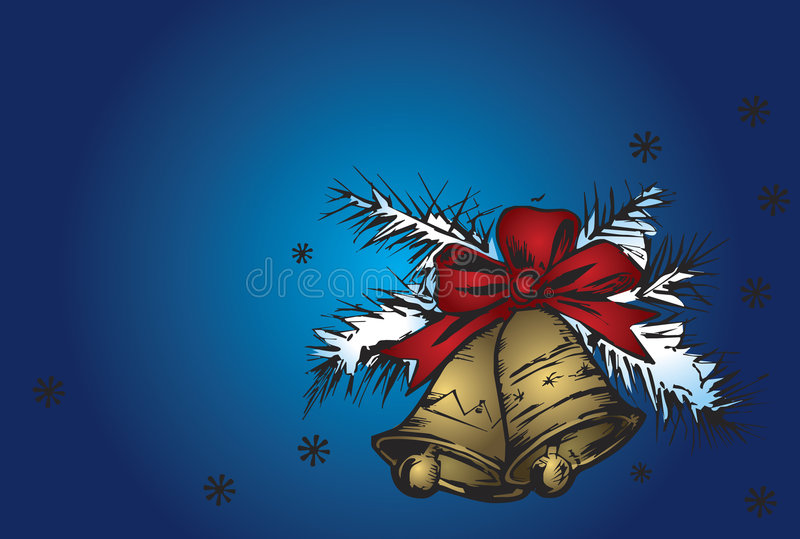 De klokken van Kerstmis vector illustratie