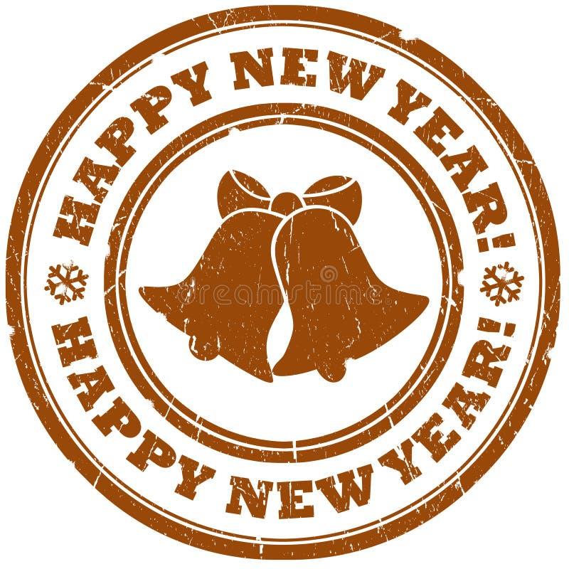 De klokkenzegel van het nieuwjaar stock illustratie