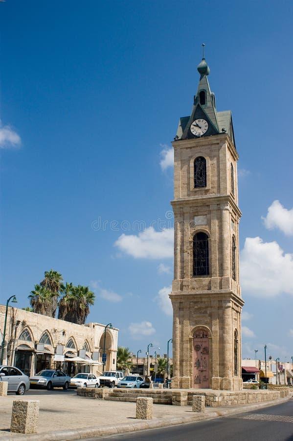 De Klokketoren Jaffa stock afbeeldingen