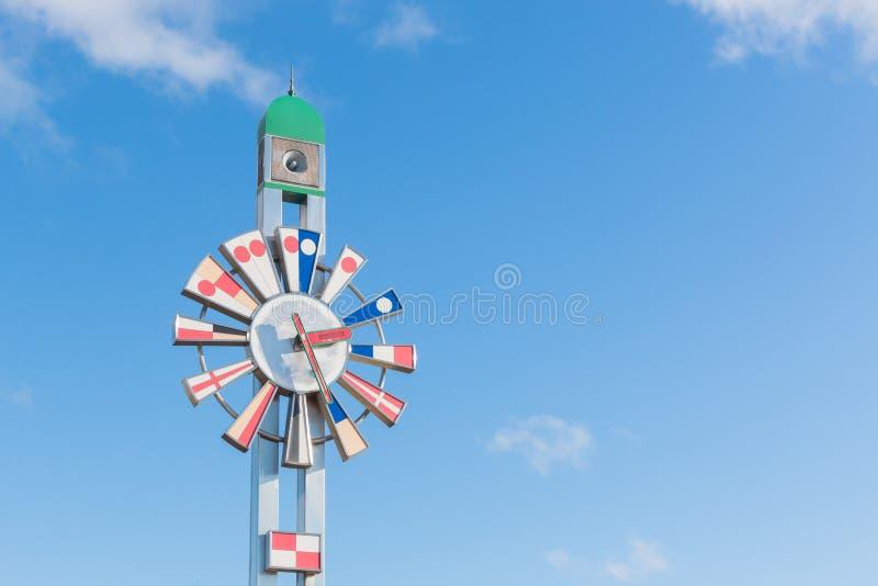 De klokketoren in kaiwomarupark stock afbeeldingen