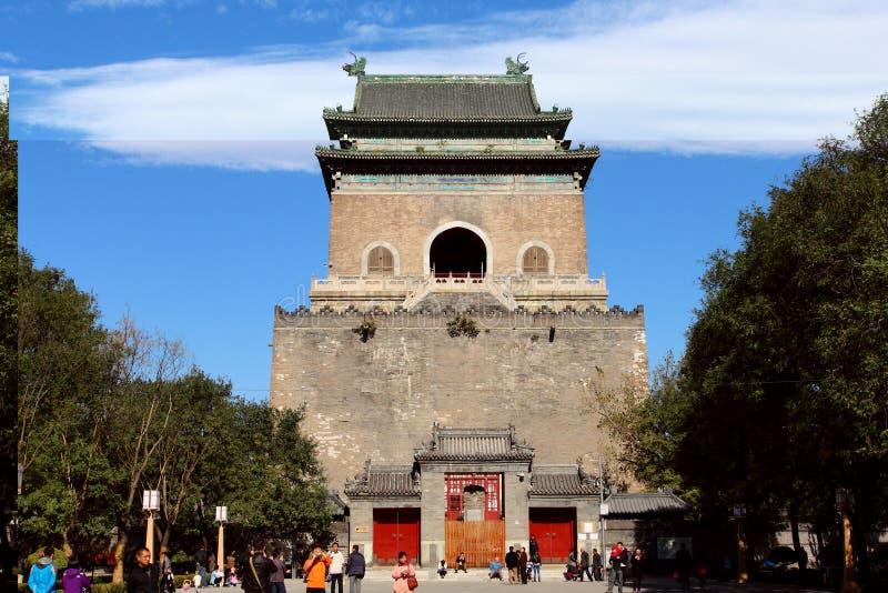 De klokketoren in Peking stock fotografie