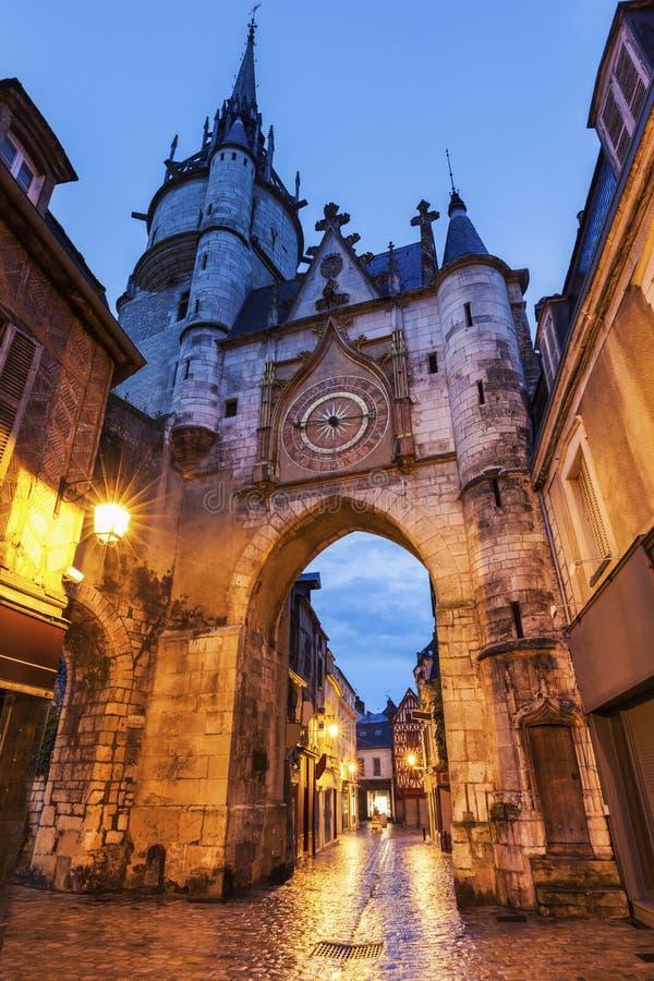 De Klokketoren van Auxerre stock foto