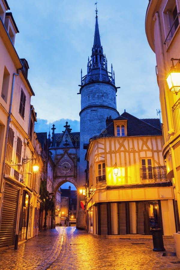 De Klokketoren van Auxerre stock afbeelding