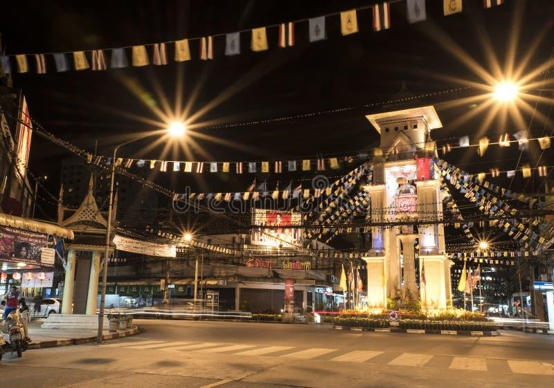 De klokketoren van Betong, Thailand stock fotografie
