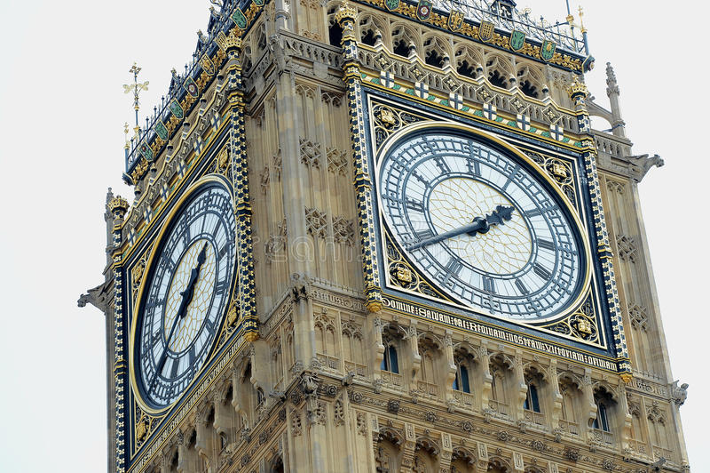 De klokketoren van Big Ben stock fotografie