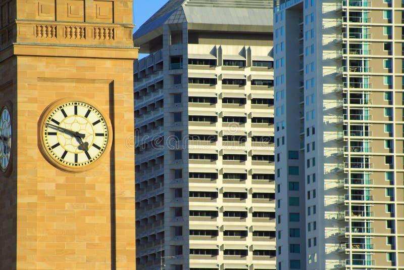 De Klokketoren van Brisbane stock afbeeldingen