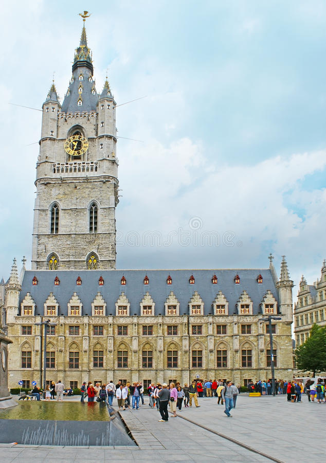 De Klokketoren van Gent royalty-vrije stock foto