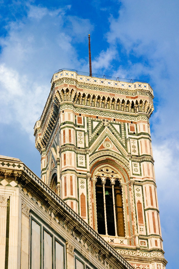 De klokketoren van Giotto royalty-vrije stock foto