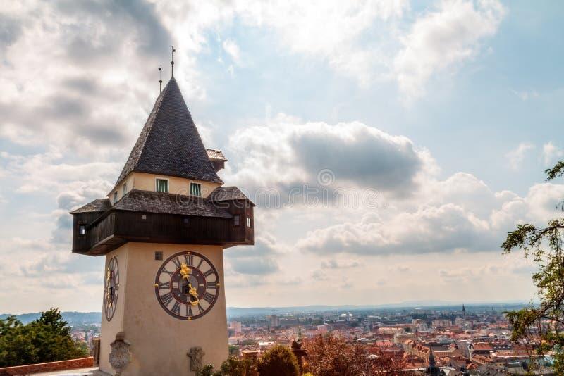 De Klokketoren van Graz royalty-vrije stock afbeelding