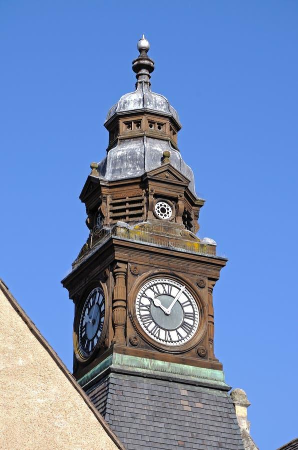 De klokketoren van het Eveshamstadhuis royalty-vrije stock foto's