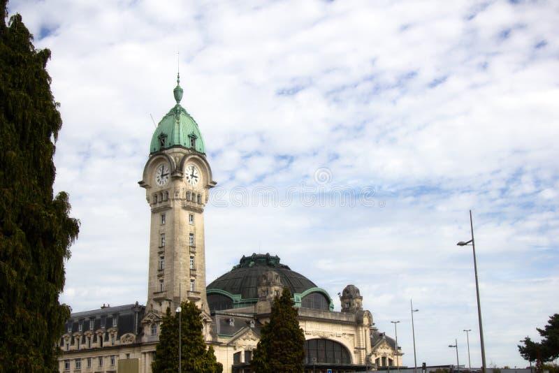 De klokketoren van de post van Limoges stock foto's