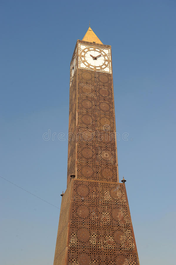 De klokketoren van Tunis stock foto