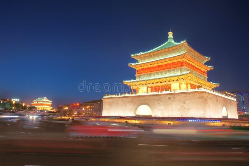 De Klokketoren van Xian royalty-vrije stock afbeelding