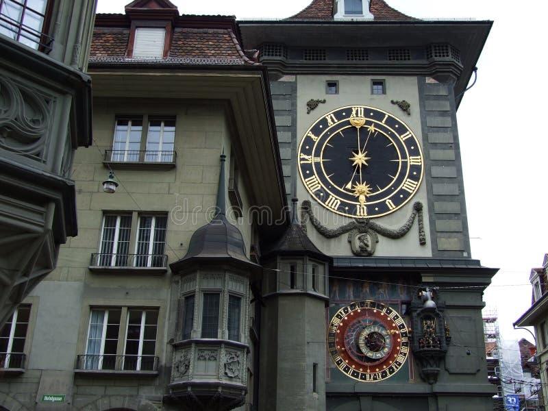 De Klokketoren of Zeitglockenturm in het stadscentrum van Bern royalty-vrije stock foto