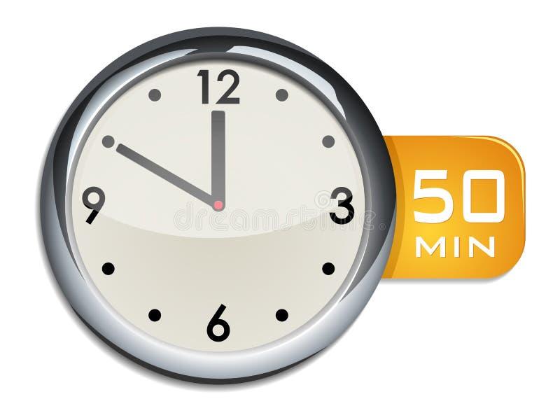 De kloktijdopnemer van de bureaumuur 50 minuten vector illustratie