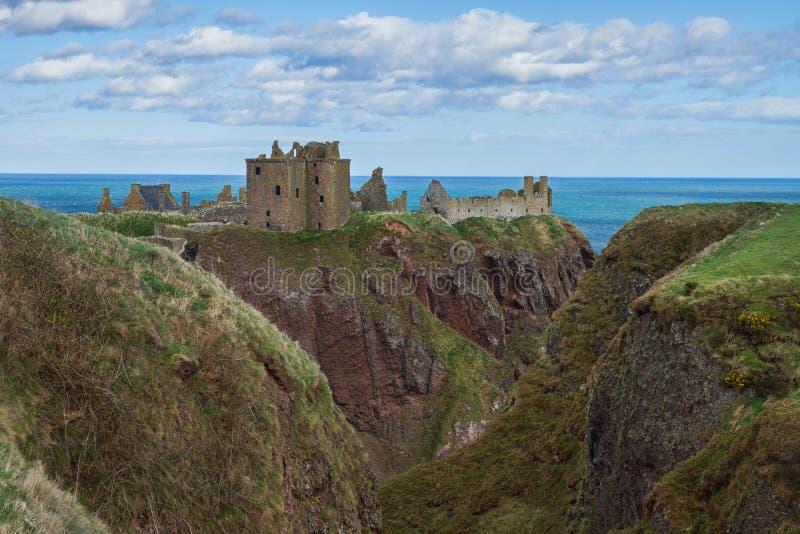 De kloof Stonehaven het UK Schotland van het Dunnotarkasteel stock foto