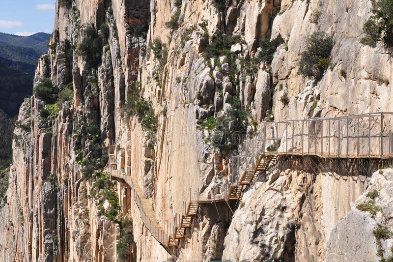 De kloof van Gr Chorro, Spanje royalty-vrije stock foto