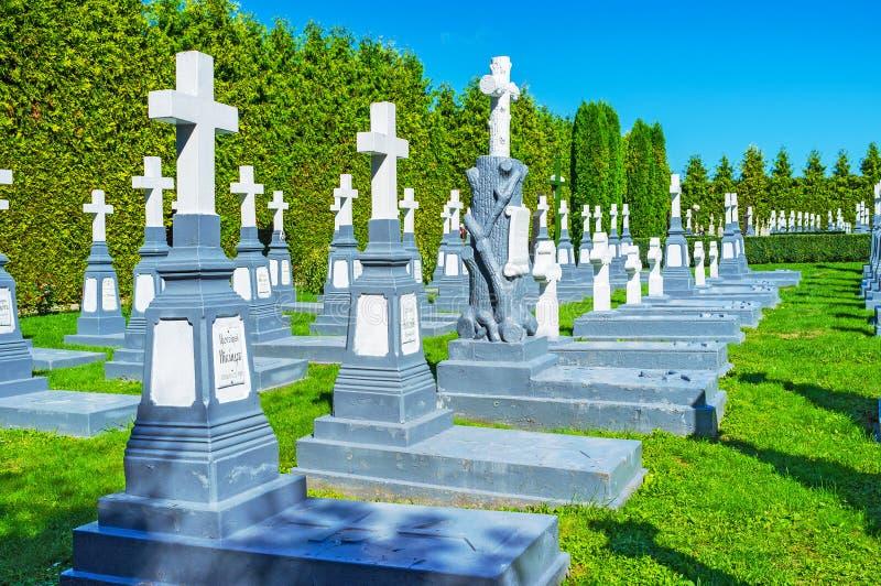 De kloosterbegraafplaats stock afbeelding
