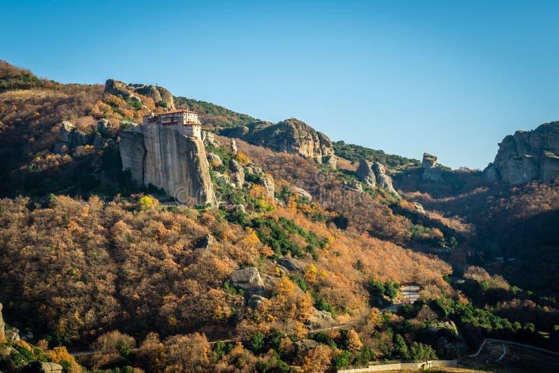 De Kloosters van Meteora in Griekenland royalty-vrije stock foto