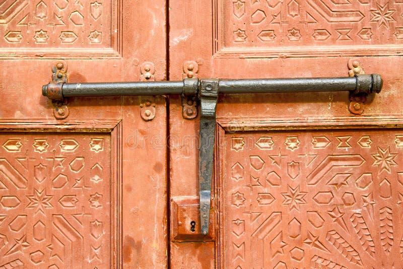 de kloppers van Marokko in Afrika het bruine rood royalty-vrije stock foto's